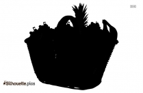 Silhouette Of Fruit Basket