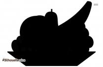 Fruit Basket Silhouette Clipart