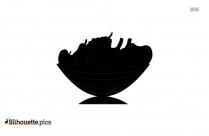 Fruit Basket Silhouette Free Vector Art