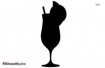 Fruit Juice Glass Silhouette Image