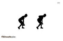 Black Workout Silhouette Image
