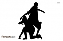 Couple Dancing Silhouette Drawing