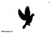 Free Flying Swallow Silhouette Image