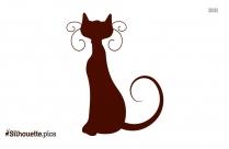Funny Cartoon Cat Silhouette