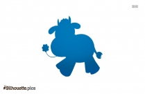 Cartoon Cow Silhouette Picture Vector