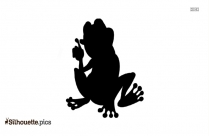 Funny Cartoon Frog Silhouette Drawing