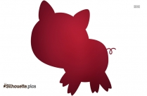 Cartoon Pig Silhouette Image