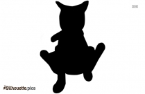Funny Cat Drawing Silhouette Art