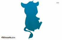 Cartoon Cow Silhouette