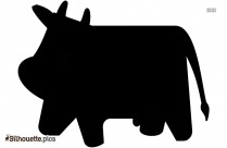 Cute Baby Cow Silhouette