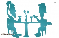 Funny Dating Cartoon Silhouette Picture