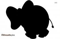 Drawn Elephant Trunk Silhouette
