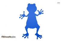 Funny Frog Silhouette Image And Vector