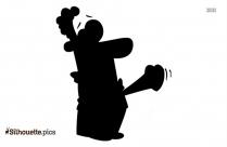 Funny Love Heart Cartoon Silhouette