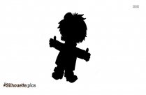 Funny Man Cartoon Picture Silhouette