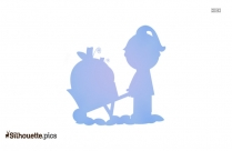 Mad Sister Cartoon Silhouette Clipart Image