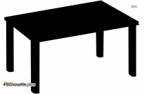 Furniture Clipart, Small Table Silhouette