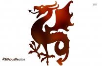 Dragon Silhouette Free Vector Art