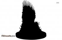 iron throne chair silhouette vector