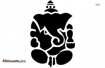 simple ganesha head tattoo silhouette