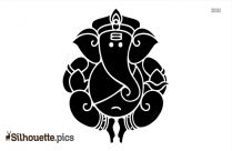 Lord Ganesha Silhouette