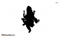 Hindu God Ganesh Silhouette Clipart
