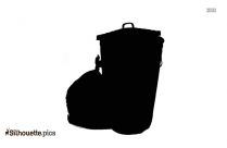 Garbage Bin Silhouette Icon