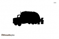 Garbage Truck Silhouette Picture Vector