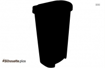 Garbage Trash Can Silhouette