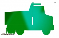 Garbage Pick Up Truck Silhouette