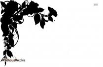 Garden Flowers Clip Art Silhouette