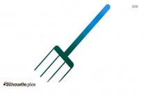 Garden Pitchfork Silhouette Vector And Graphics