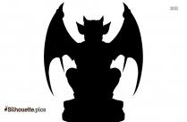 Gargoyle Monster Silhouette Drawing
