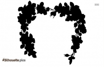 Garland Flowers Silhouette Free Vector Art