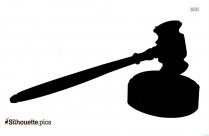 Judge Gavel Silhouette