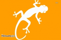 Gecko Silhouette Drawing