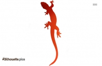 Gecko Silhouette, Reptile Clipart