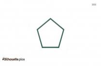 Geometric Shape Pentagon Silhouette