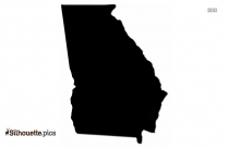 Georgia Map Silhouette Vector