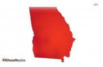 Georgia State Map Symbol Silhouette