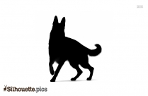German Shepherd Dog Silhouette