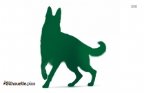 Dog Walking Clipart Silhouette