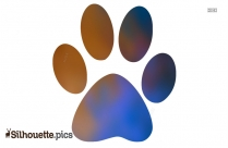 Dog Paw Print Silhouette