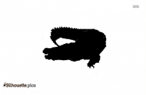 Gharial Silhouette Illustration