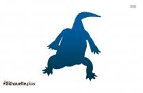 Gharials Crocodile Silhouette