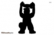 Angry Gorilla Symbol Silhouette