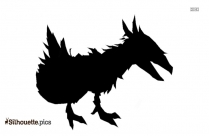 Giant Moa Silhouette Drawing