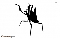 Giant Praying Mantis Silhouette Clipart