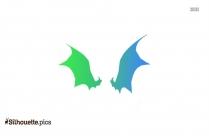 Gigantic Bat Wings Clip Art Silhouette