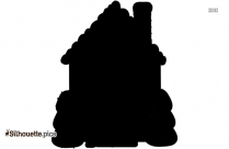 House Design Silhouette Image And Vector Illustration